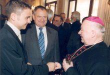 Gerald Grosz mit Sozialminister Herbert Haupt und St. Pöltens Bischof Dr.Kurt Krenn