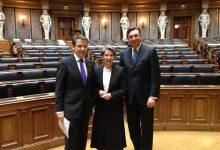 Gerald Grosz mit Nationalratspräsidentin Mag. Barbara Prammer und Sloweniens Staatspräsident Borut Pahor