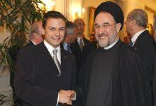 Gerald Grosz mit dem Präsidenten der Islamischen Republik Iran Mohammad Chatami in Teheran