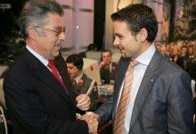 Bundespräsident Heinz Fischer und Gerald Grosz für die Aktion Licht ins Dunkel