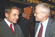 Tschechiens Ministerpräsident Vladimir Spidla im Gespräch mit Gerald Grosz